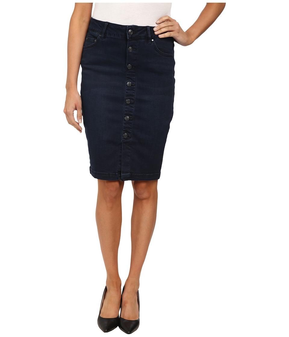 Jag Jeans - Hazel Slim Pencil Skirt Republic Denim (Indigo Steel) Women's Skirt plus size,  plus size fashion plus size appare