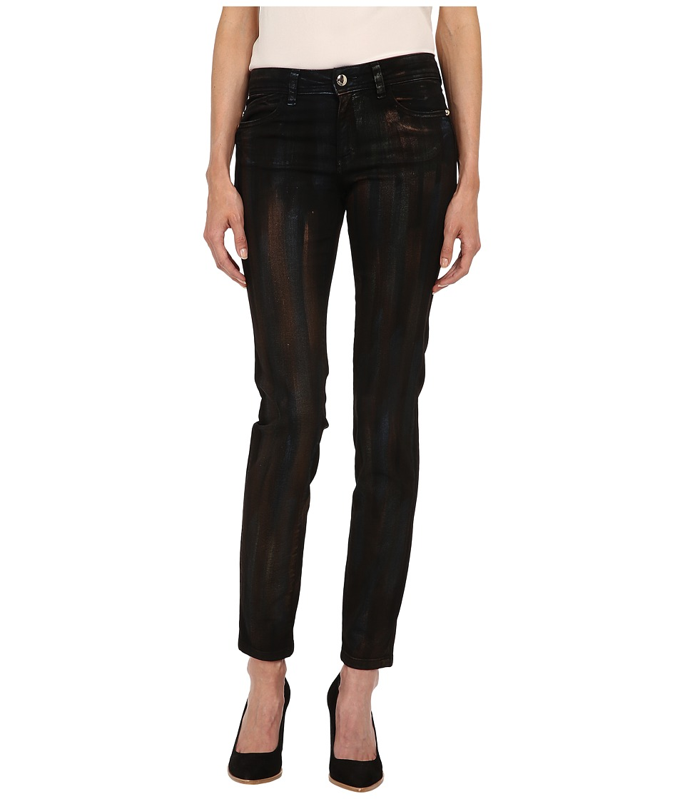 Just Cavalli - Painted Metallic Brushstroke Denim in Black Denim (Black Denim) Women's Jeans