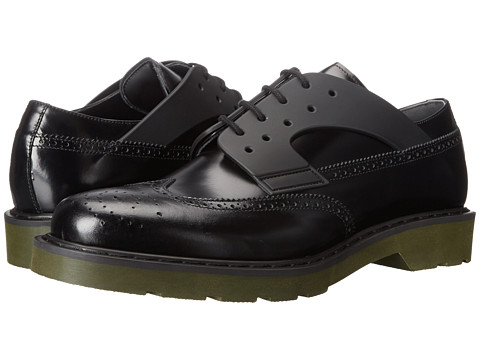 Alexander McQueen - Wingtip Oxford (Black) Men's Lace Up Wing Tip Shoes