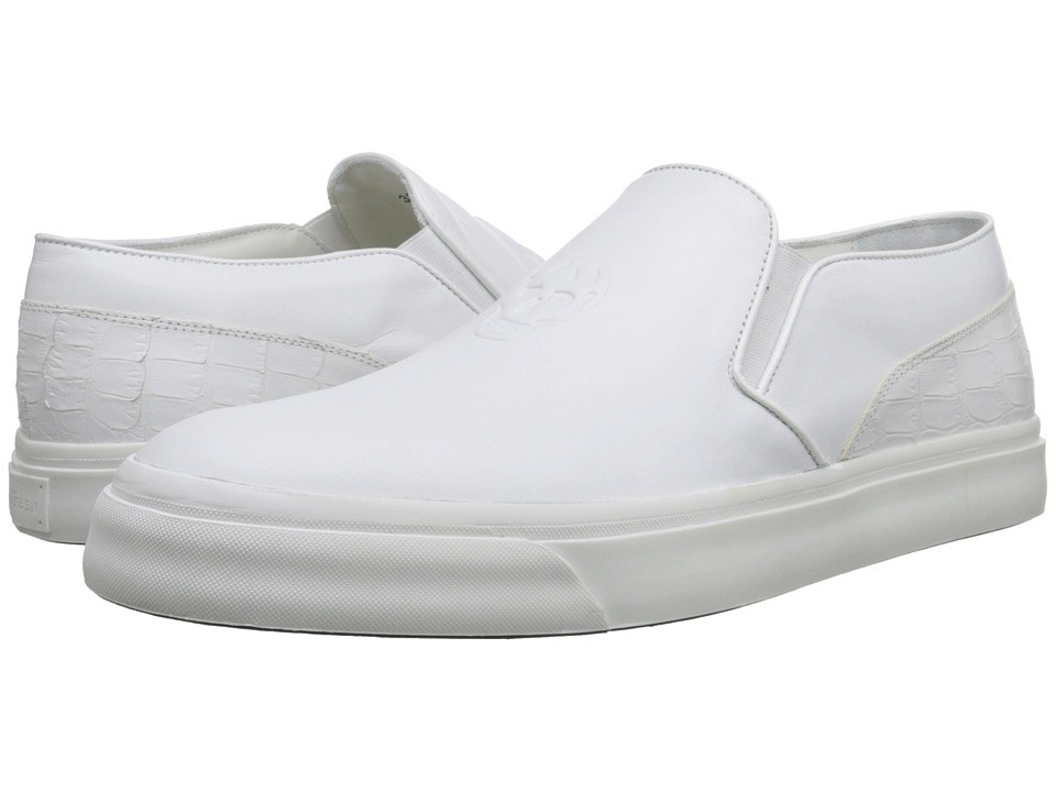 Alexander McQueen - Embossed Slip-On Trainer (White) Men's Slip on Shoes