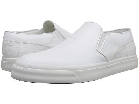 Alexander McQueen - Embossed Slip-On Trainer (White) Men