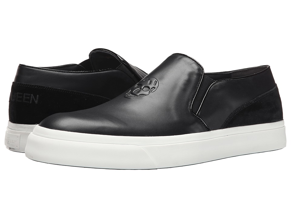 Alexander McQueen - Embossed Slip-On Trainer (Black) Men's Slip on Shoes