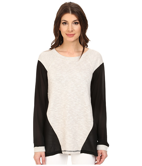 Sanctuary - Jessa Sweater (Silver/Black) Women's Sweater