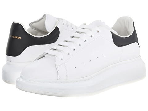 Alexander McQueen - Low Top Sneaker (White/Black) Men's Lace up casual Shoes