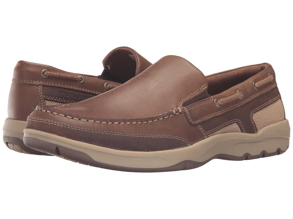 Rockport - Cshore Bound Slip-On 2 (Medium Brown) Men's Slip on Shoes