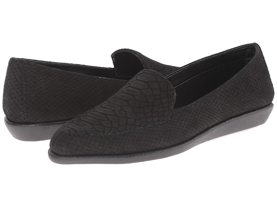 The FLEXX - Sartoris (Black Dylan Nubuck) Women's Flat Shoes