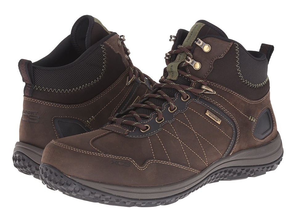 Rockport - Walk360 Outdoor Trail Mid (Dark Brown/Baked Clay) Men's Shoes