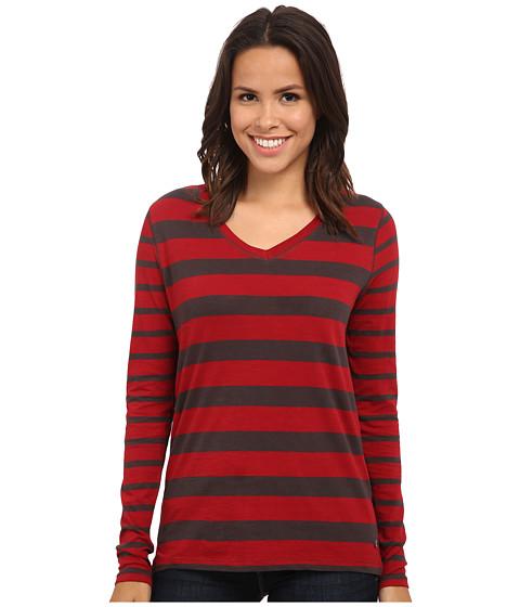 Jag Jeans - Wells Tee Classic Fit Shirt Striped Jersey (Hot Tamale) Women's T Shirt
