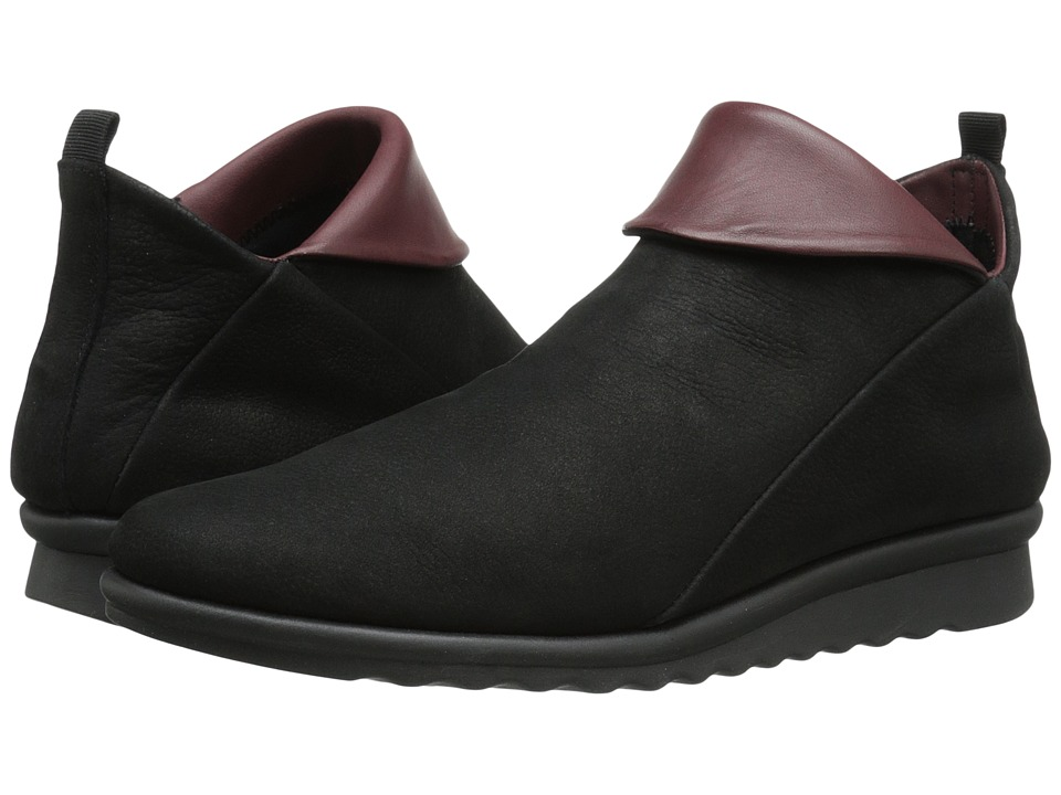 The FLEXX - Pan Damme (Black/Merlot Dakar/Seta) Women's Shoes