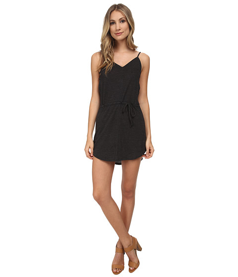 Chaser - Triblend V Back Strappy Dress (Black) Women's Dress