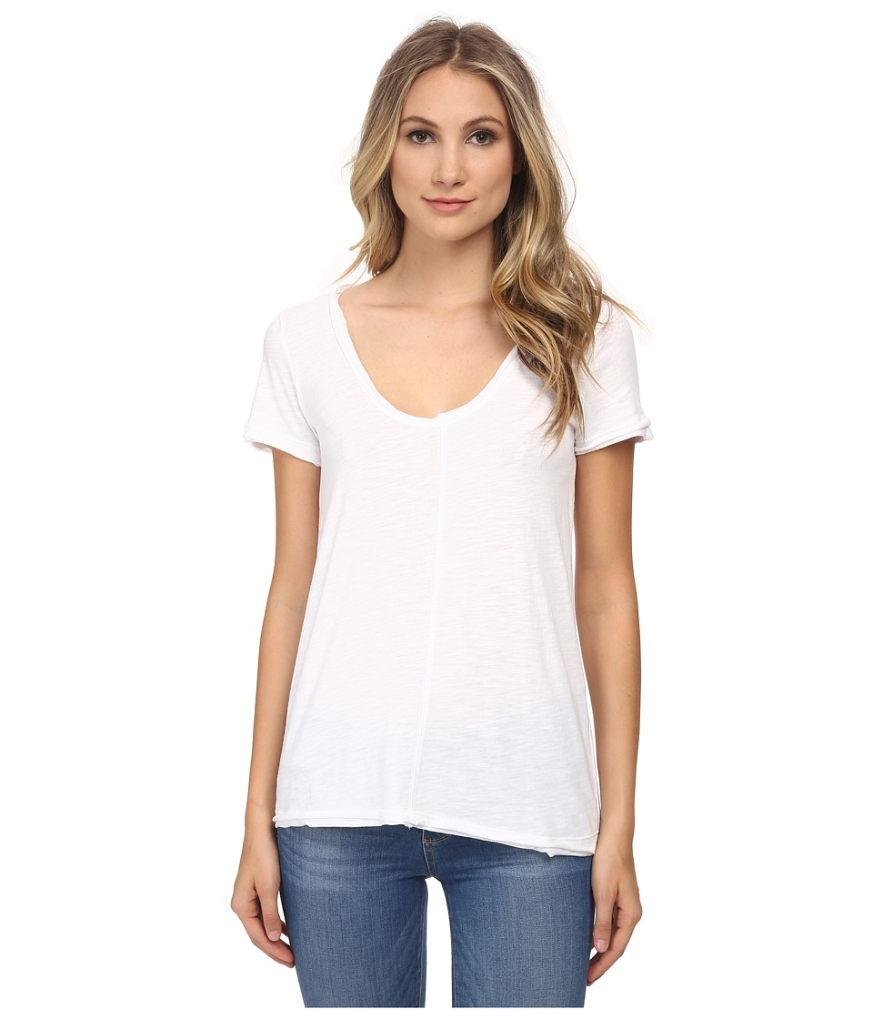 Chaser - Scoop Neck Strap Back Short Sleeve Tee (White) Women