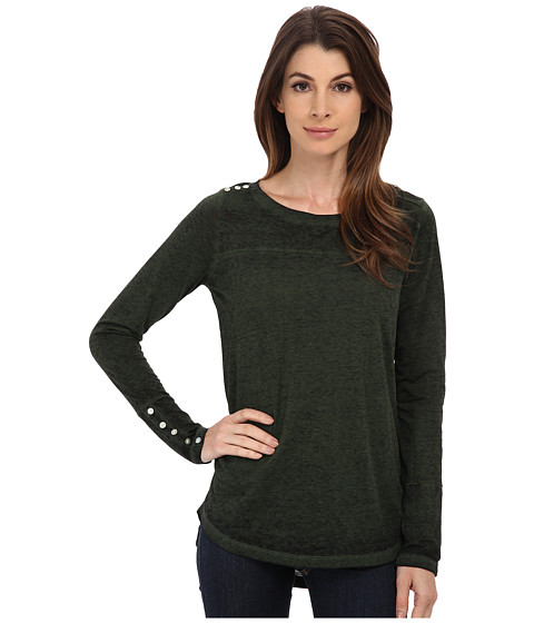 Jag Jeans - Meghan Tee Classic Fit Shirt Burnout Jersey (Green Spruce) Women's T Shirt