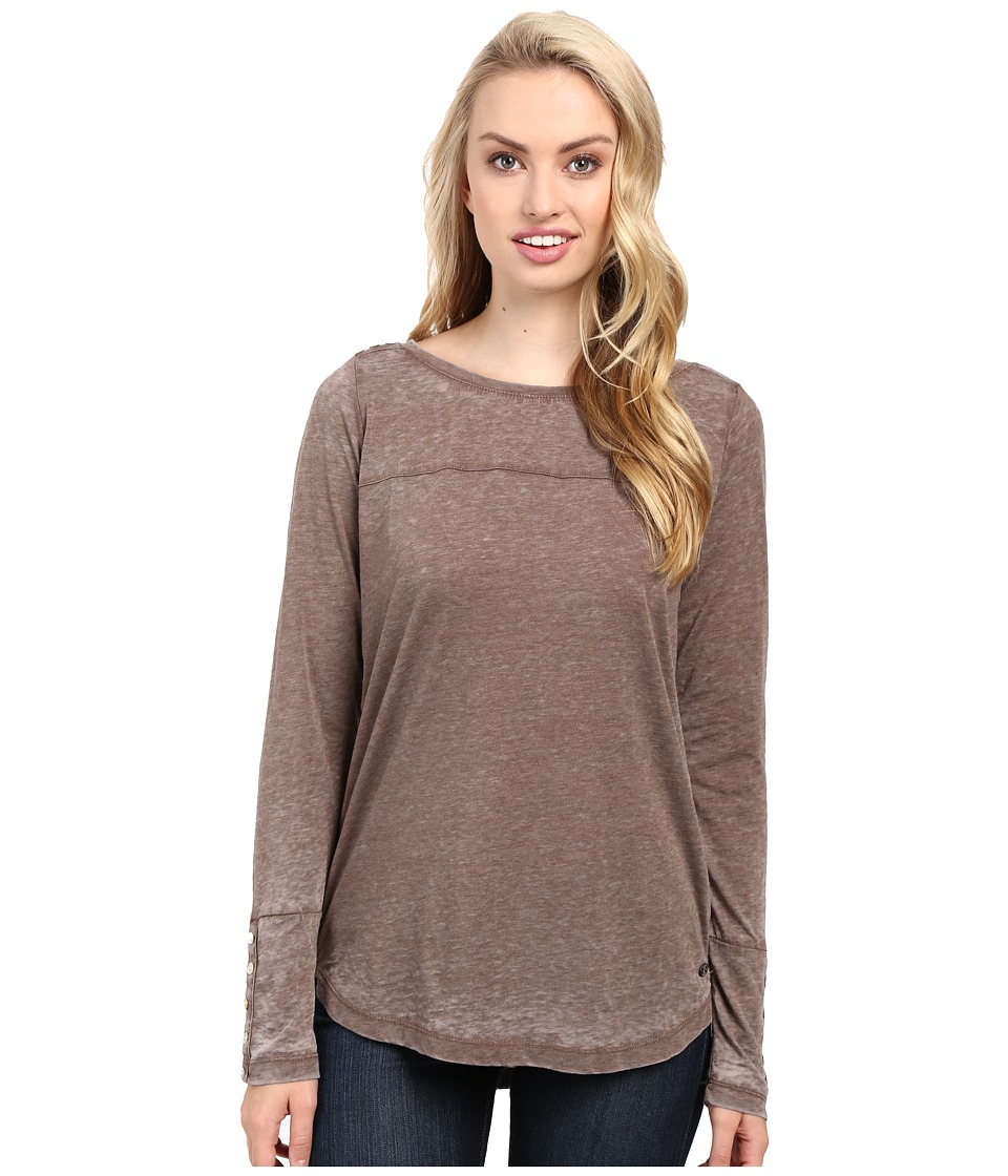 Jag Jeans Meghan Tee Classic Fit Shirt Burnout Jersey (Truffle) Women