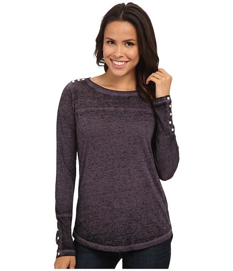 Jag Jeans - Meghan Tee Classic Fit Shirt Burnout Jersey (Violet Morn) Women