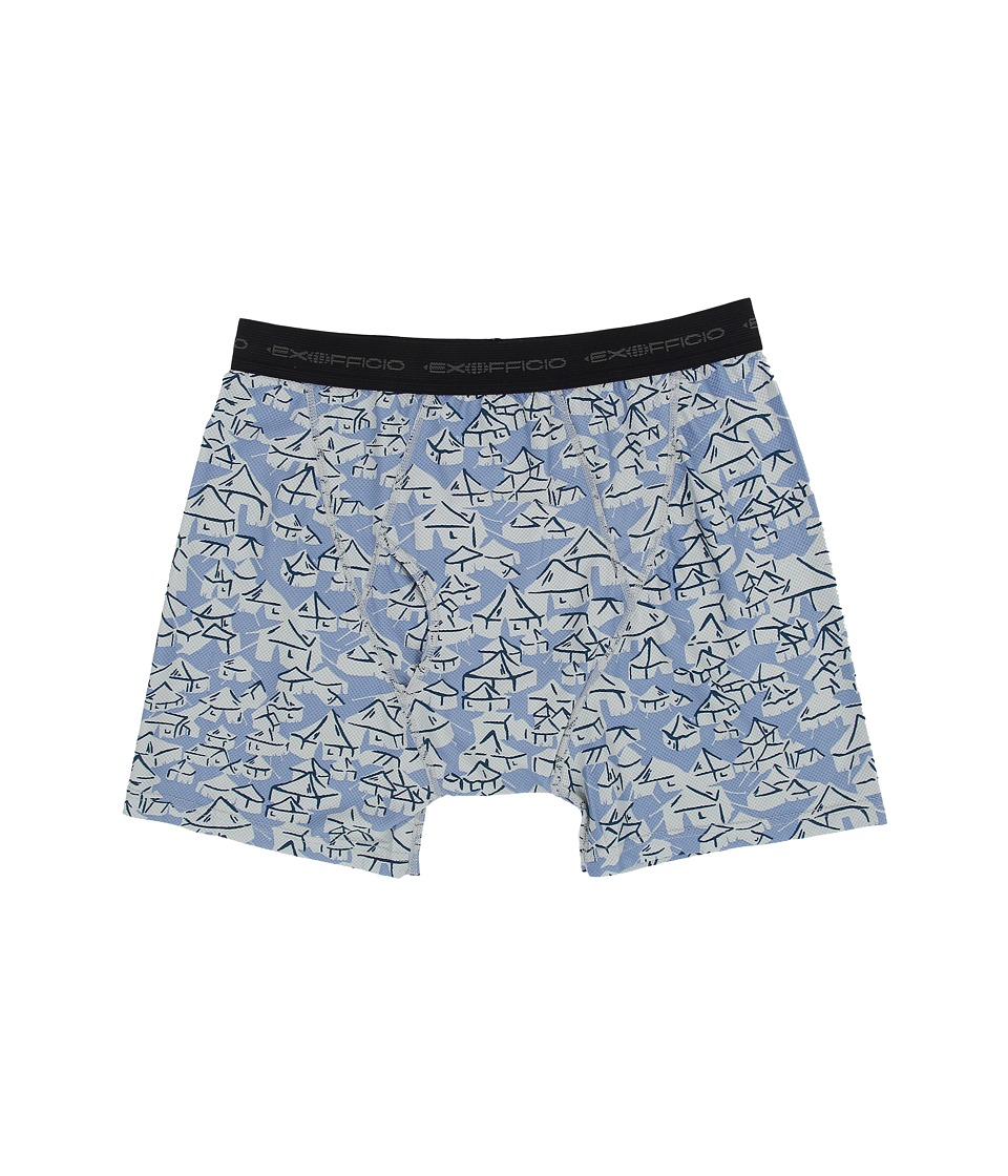 ExOfficio - Give-N-Go Printed Boxer Brief (Cayman/Yurt) Men's Underwear
