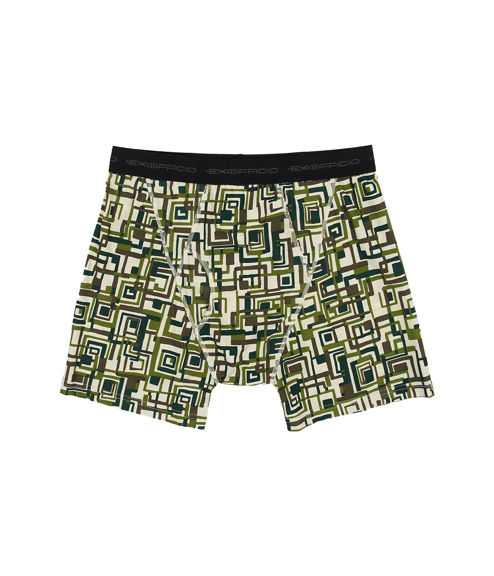 ExOfficio - Give-N-Go Printed Boxer Brief (Highlands/Circuit Geo) Men's Underwear