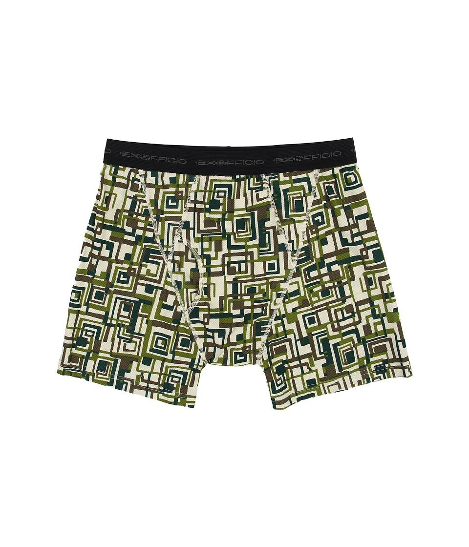 ExOfficio - Give-N-Go Printed Boxer Brief (Highlands/Circuit Geo) Men's Underwear