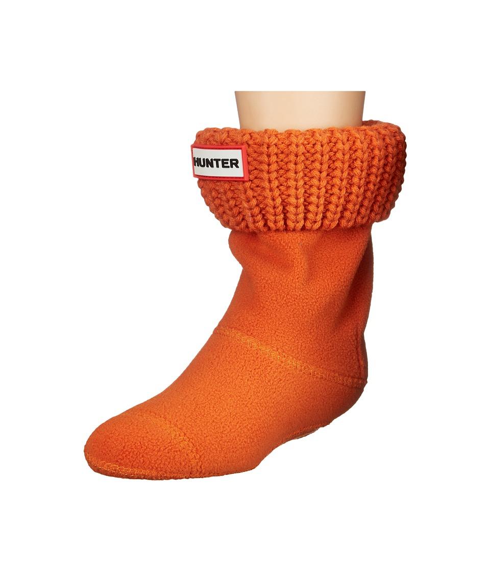 Hunter Kids - Half Cardigan Boot Sock (Toddler/Little Kid/Big Kid) (Madder Orange) Kids Shoes