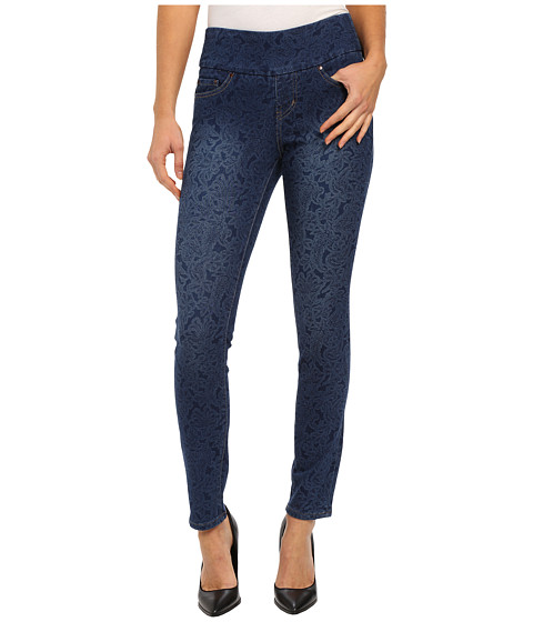 Jag Jeans - Lanna Pull-On Slim Patterned Denim in Paisley Indigo (Paisley Indigo) Women