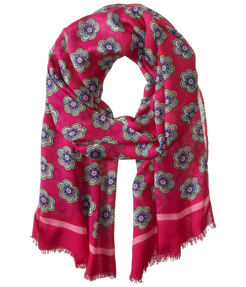 Vera Bradley - Soft Fringe Scarf (Pink Swirls Flowers) Scarves