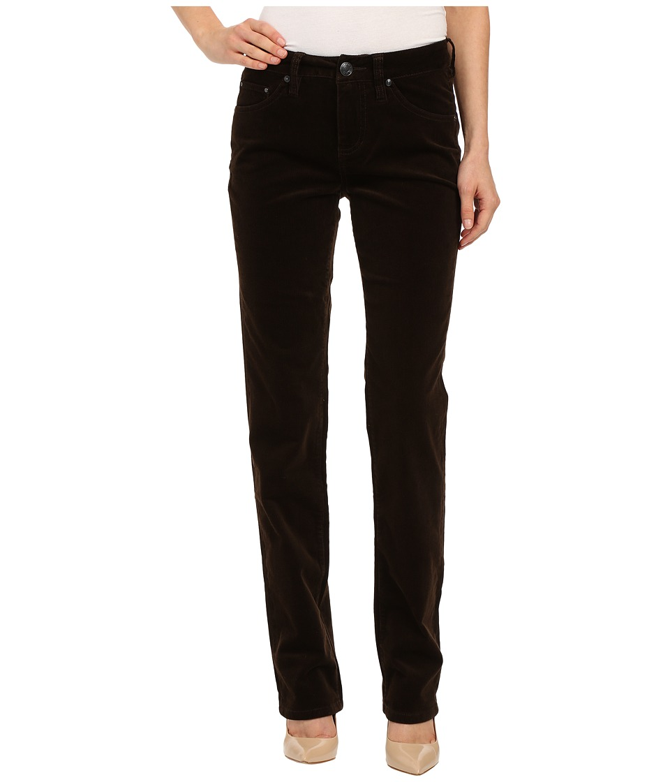 Jag Jeans - Patton Mid Rise Straight 18 Wale Corduroy (Dark Chocolate) Women's Casual Pants