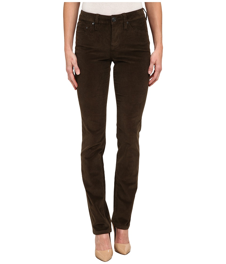 Jag Jeans - Patton Mid Rise Straight 18 Wale Corduroy (Green Pine) Women's Casual Pants