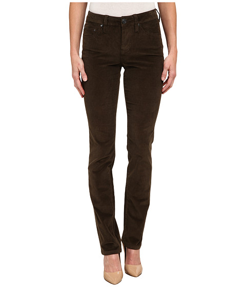 Jag Jeans - Patton Mid Rise Straight 18 Wale Corduroy (Green Pine) Women