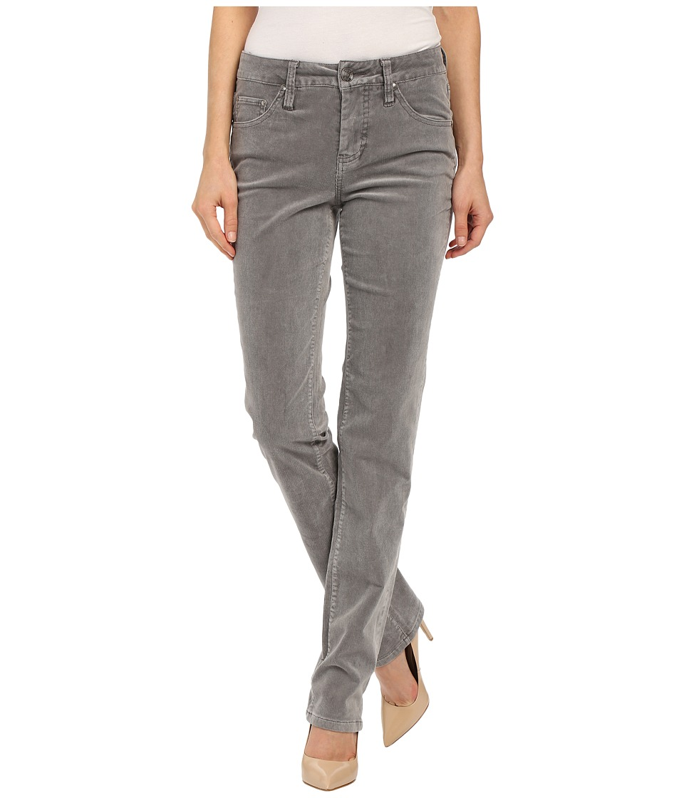 Jag Jeans - Patton Mid Rise Straight 18 Wale Corduroy (Silver Streak) Women's Casual Pants