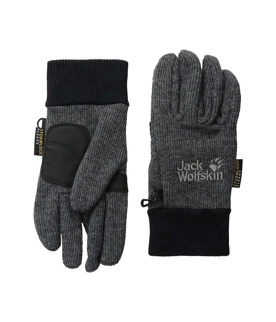 Jack Wolfskin - Knitted Stormlock Glove (Phantom) Extreme Cold Weather Gloves