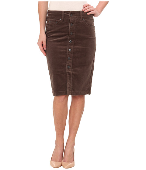 Jag Jeans - Hazel Slim Pencil Skirt 18 Wale Corduroy (Pavement) Women