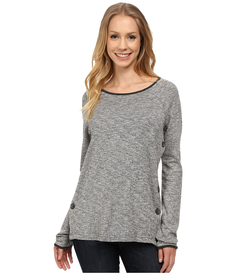 Jag Jeans - Claudette Side Button Tweed Knit (Salt/Pepper) Women's Sweater
