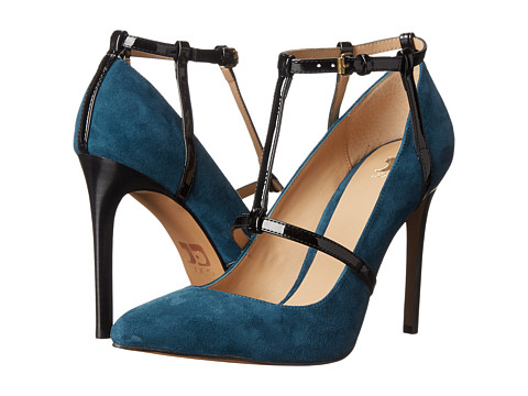 Joe's Jeans - Gadget (Blue Denim/Black Suede) High Heels