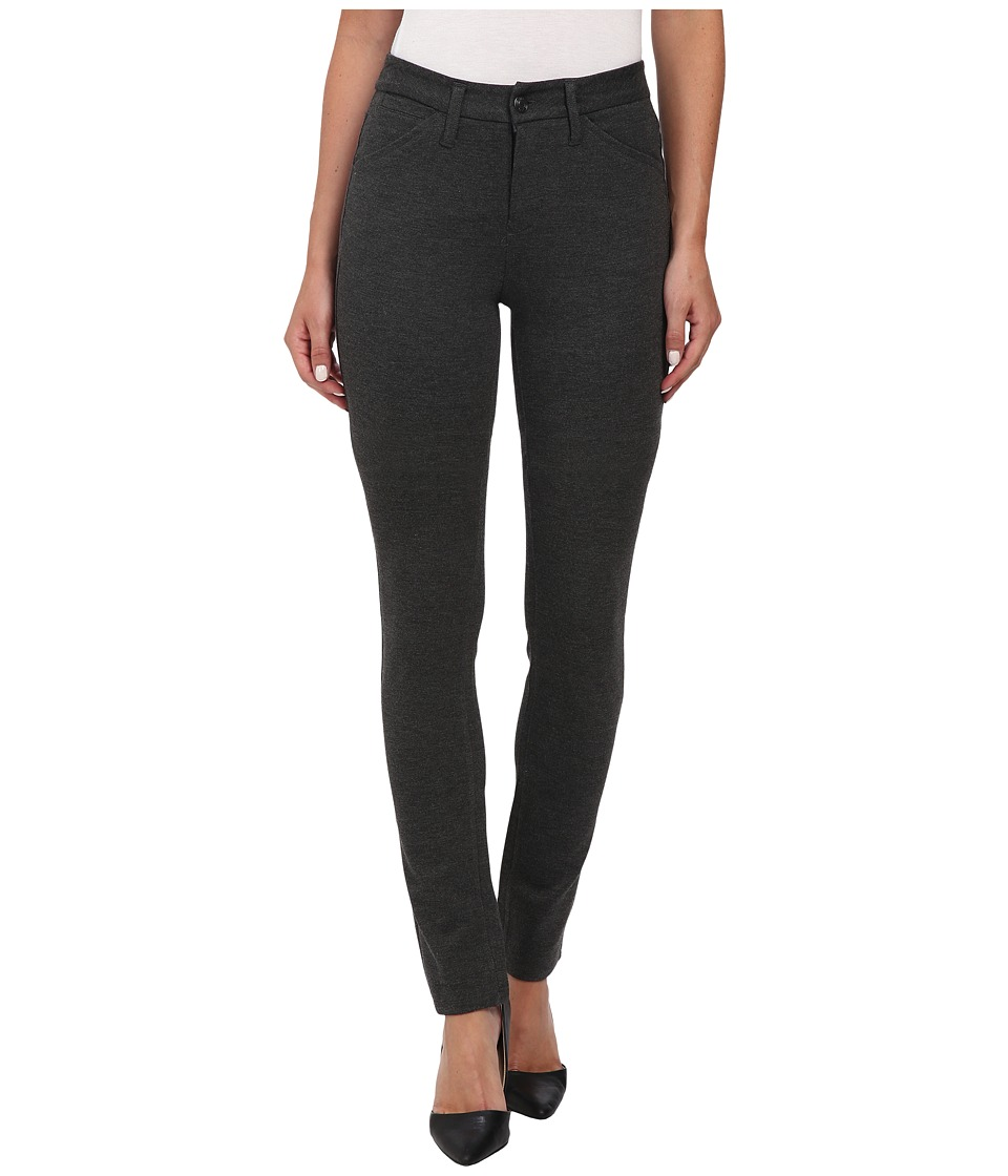 Jag Jeans - Rowan Mid Rise Slim Double Knit Ponte (Charcoal Heather) Women