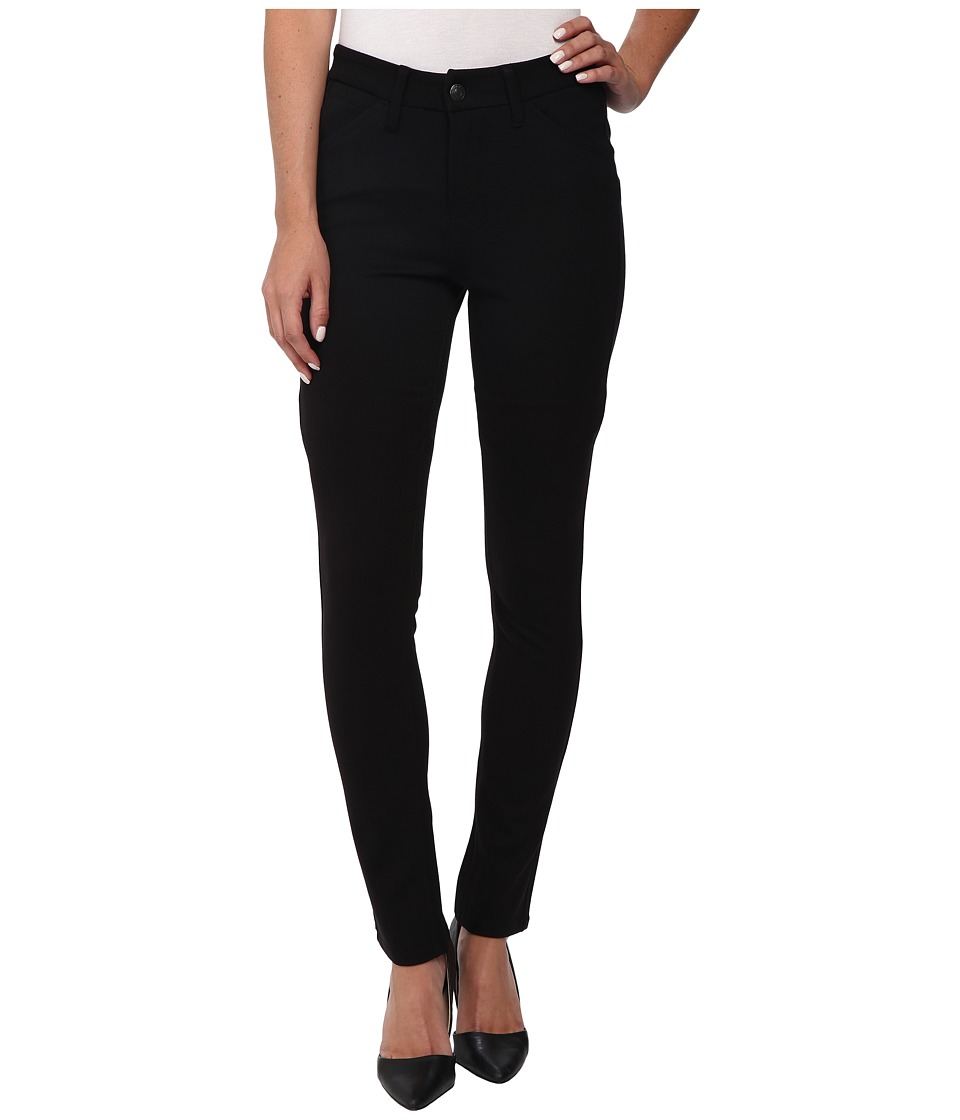 Jag Jeans - Rowan Mid Rise Slim Double Knit Ponte (Black) Women's Casual Pants