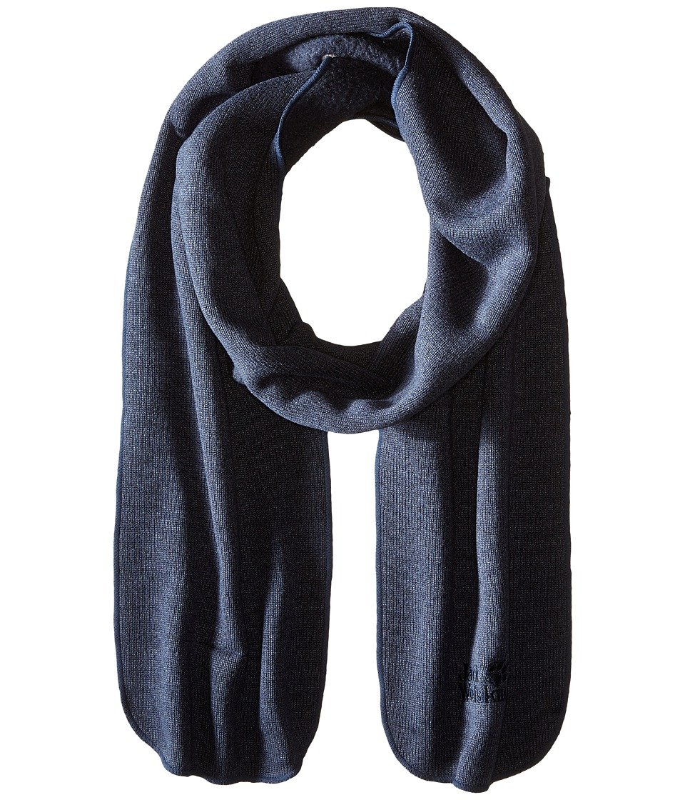 Jack Wolfskin - Caribou Scarf (Night Blue) Scarves