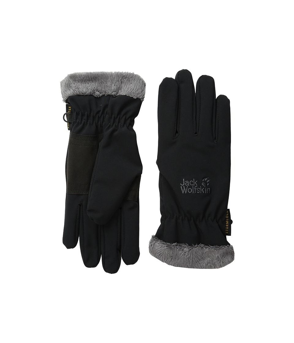 Jack Wolfskin - Softshell Highloft Glove (Black) Extreme Cold Weather Gloves