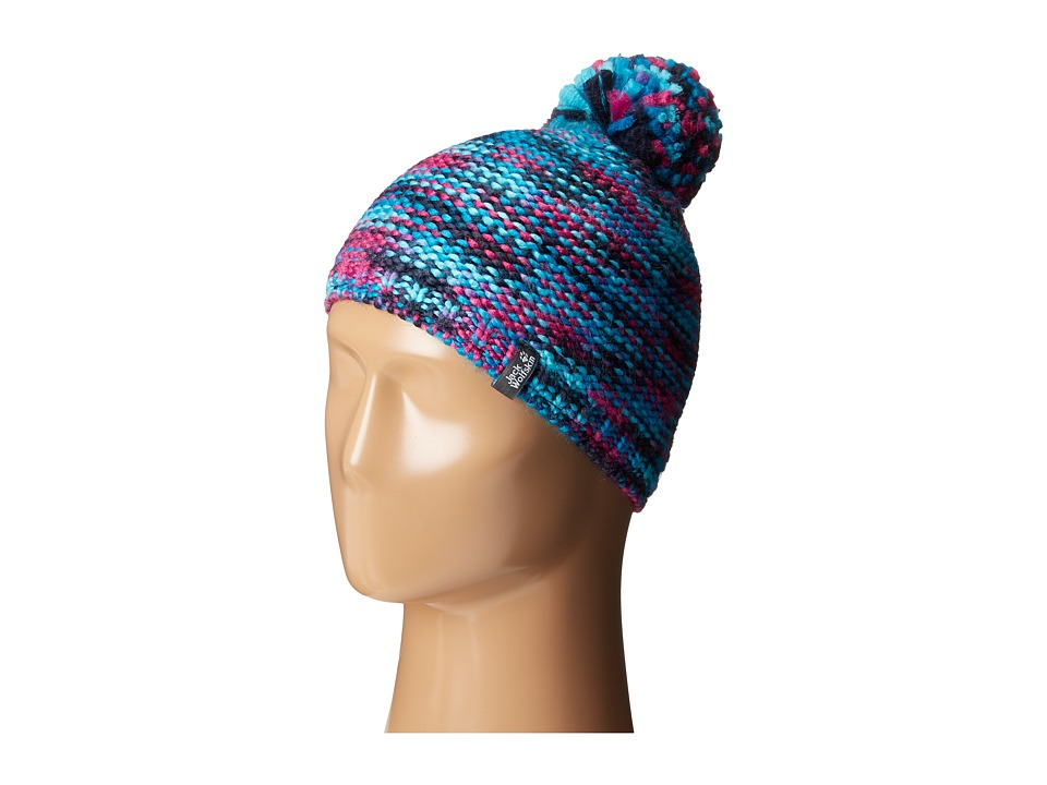Jack Wolfskin - Kaleidoscope Knit Cap (Little Kid/Big Kid) (Dark Turquoise) Knit Hats