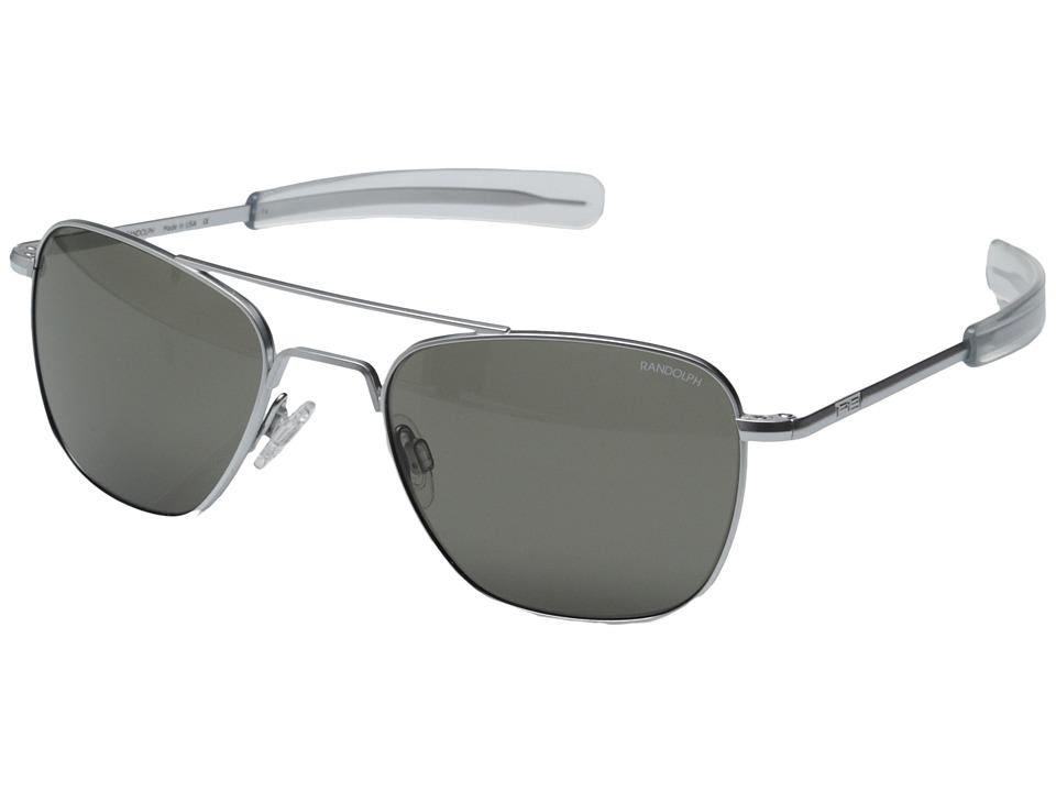 b9d407683f Randolph Engineering Aviator Bayonet 55mm Matte Chrome Blue Flash Sunglasses.  EAN-13 Barcode of UPC 044409627024. 044409627024
