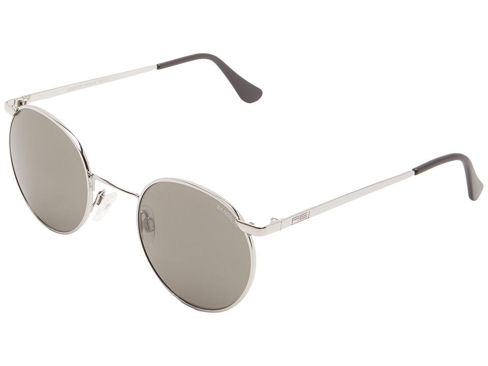 Randolph - P-3 49/23mm (Bright Chrome/Gray Glass) Fashion Sunglasses