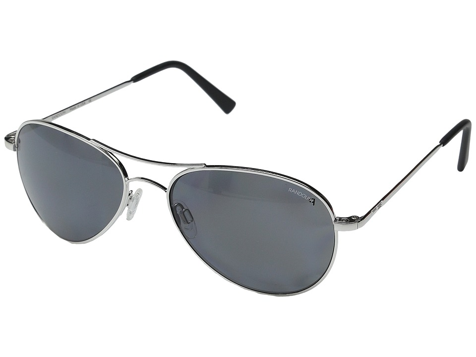 Randolph - Amelia 57mm Polarized (Rhodium Polished/Gray Polarized PC) Fashion Sunglasses