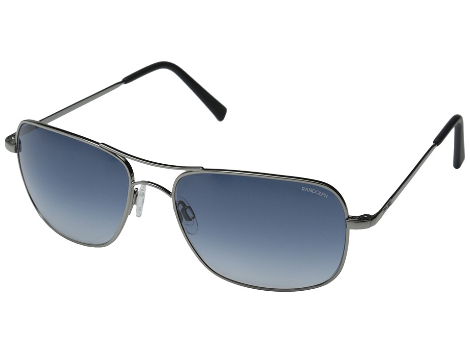 Randolph - Archer 59mm (Dark Ruthenium Polished/Blue Gradient Nylon) Fashion Sunglasses