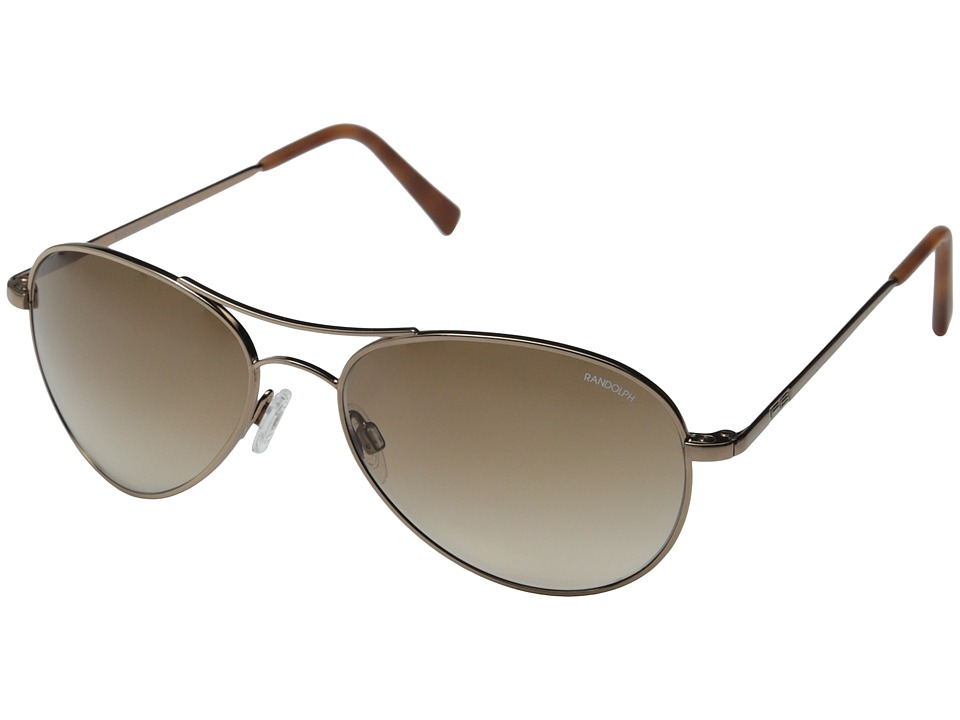 Randolph - Amelia 57mm (Chocolate Gold/Tan Gradient Nylon) Fashion Sunglasses