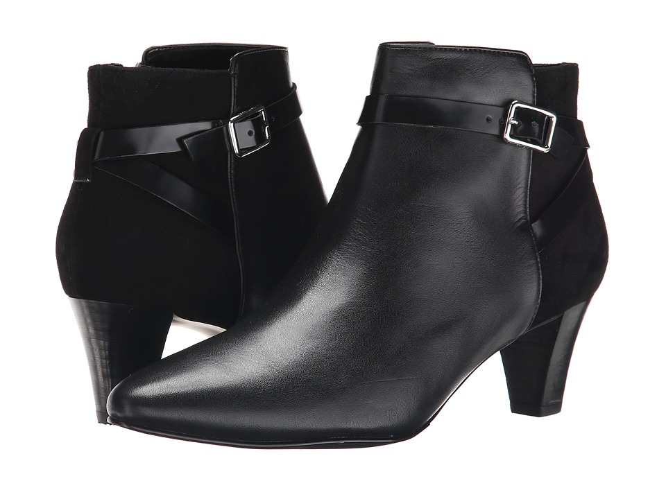 Cole Haan - Sylvan Bootie (Black Leather/Black Suede) Women