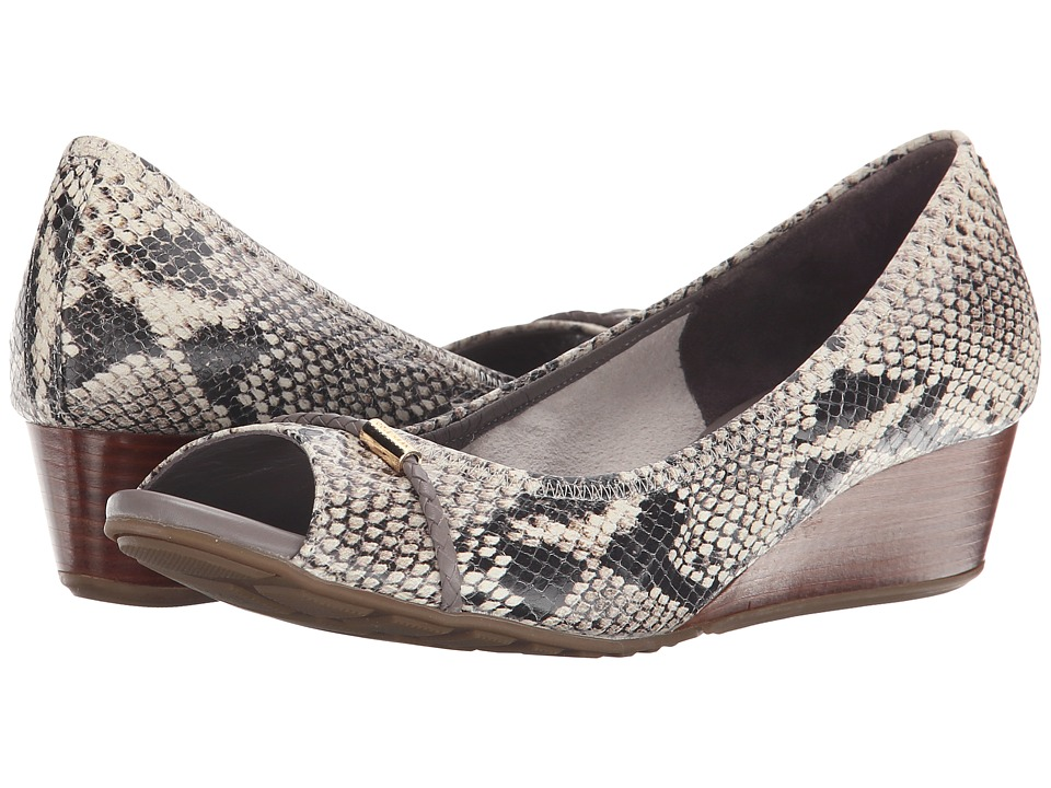 Cole Haan - Tali Grand Open Toe Wedge 40 (Roccia Snake Print) Women's Wedge Shoes
