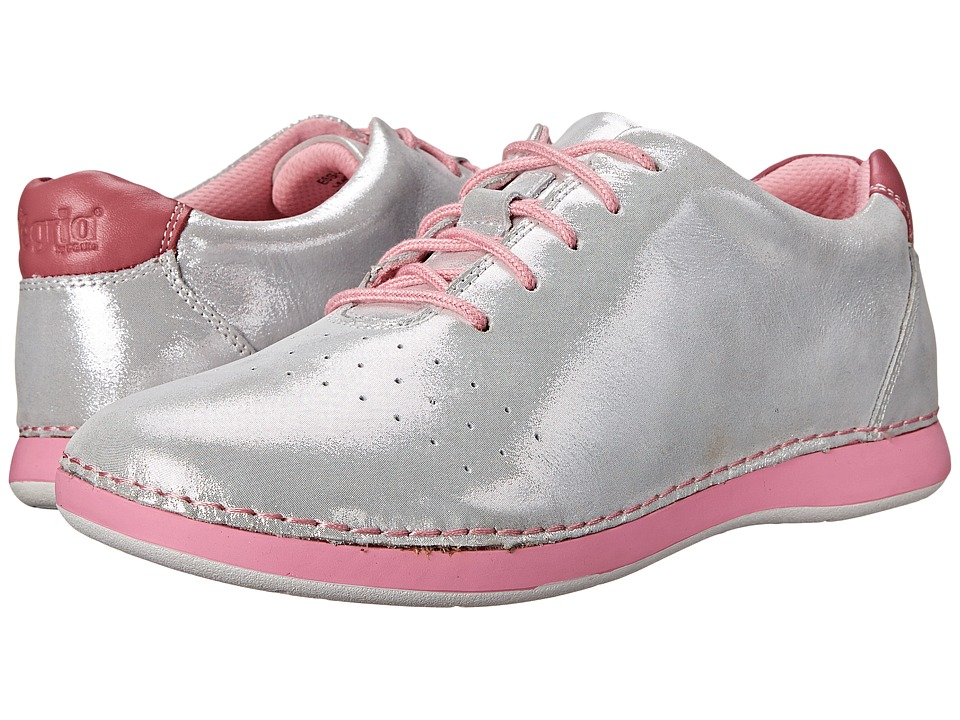 Alegria - Essence (White Shimmer) Women's Lace up casual Shoes