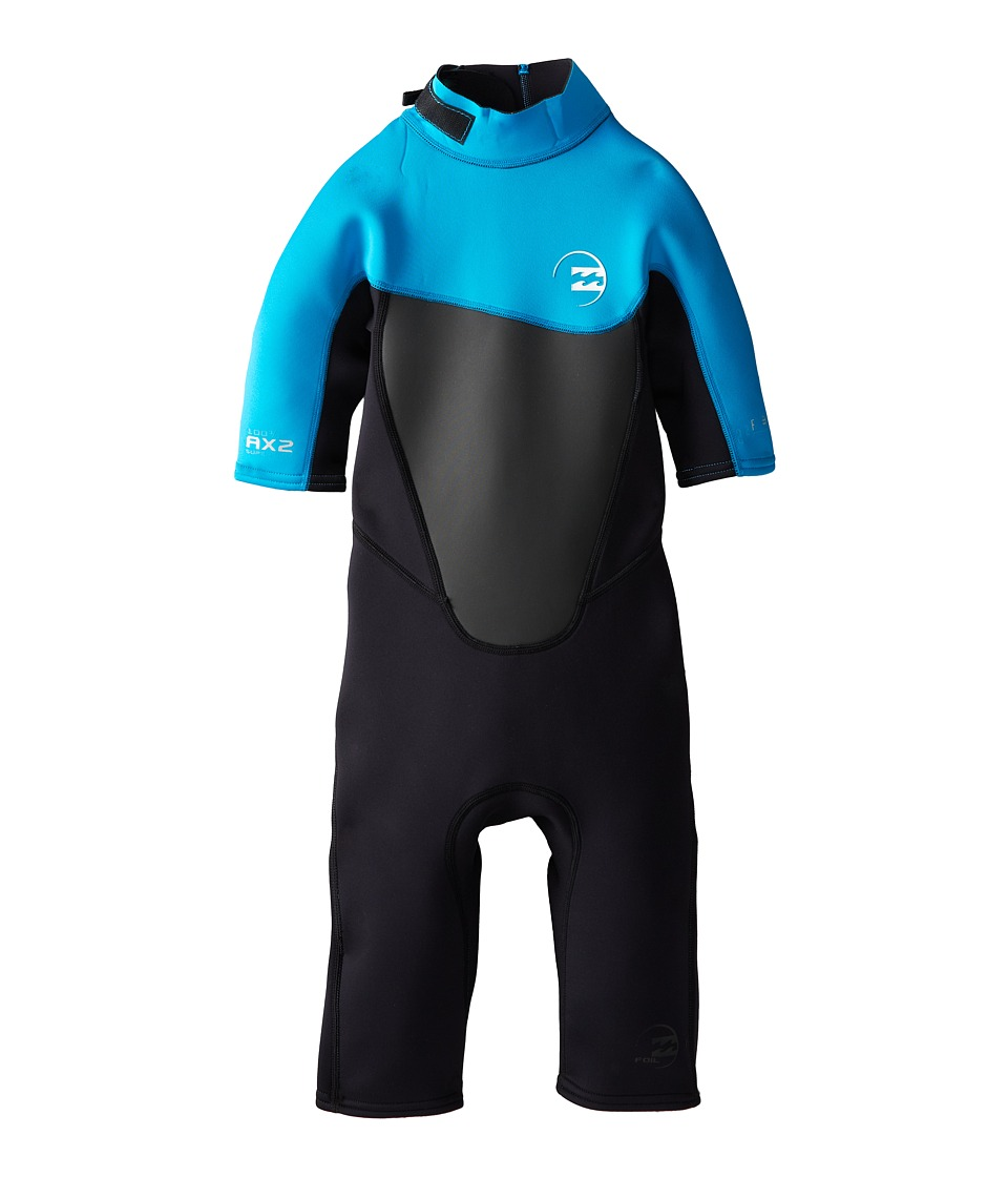 Billabong Kids - Foil 202 Back Zip Short Sleeve Spring (Big Kids) (Turquoise) Boy's Wetsuits One Piece