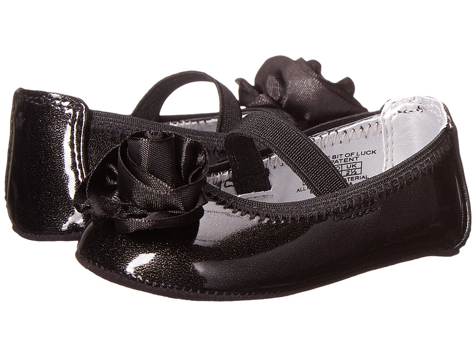 Kenneth Cole Reaction Kids - NY Baby Little Bit of Luck (Infant/Toddler) (Black) Girl's Shoes