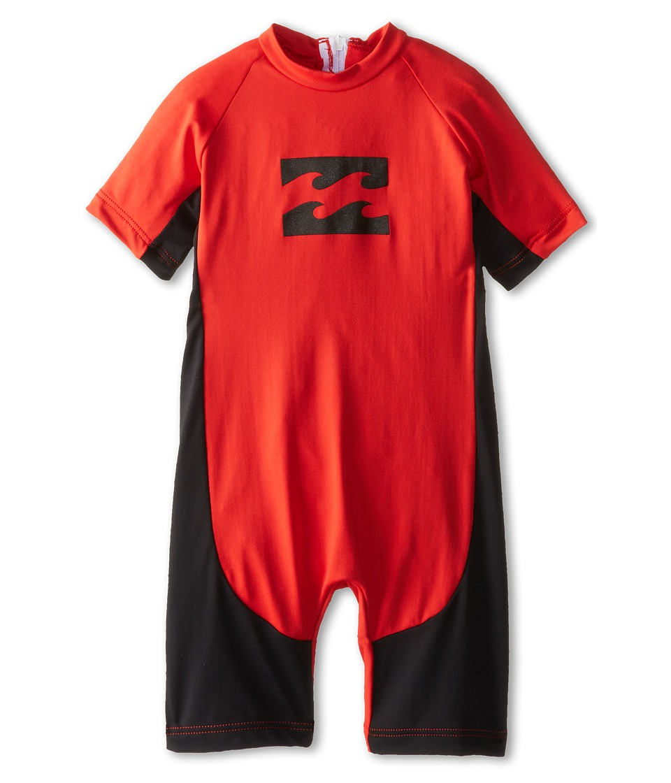Billabong Kids - Unity Lycra Springsuit (Infant/Toddler/Little Kids) (Bright Red) Boy's Wetsuits One Piece