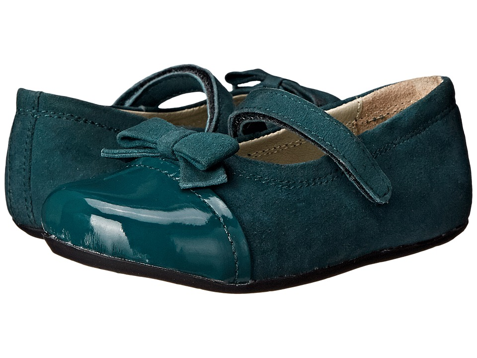 Pazitos - Fairy Bow MJ (Toddler) (Forest Green) Girls Shoes