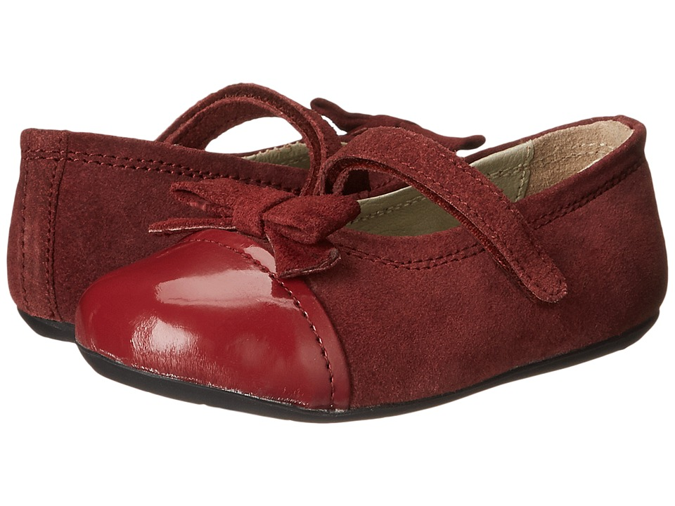 Pazitos - Fairy Bow MJ (Toddler) (Burgundy) Girls Shoes